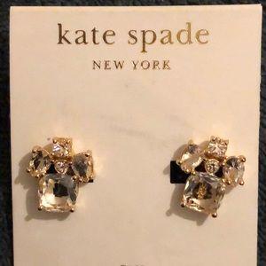Kate Spade Make Me Blush Clip On Earrings NWT